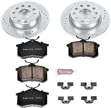 Power Stop K5671 Rear Brake Kit with Drilled/Slotted Brake Rotors and Z23 Evolution Ceramic Brake Pads