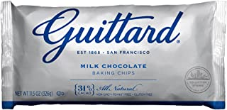 Guittard Chocolate Chips, Milk Chocolate Maxi, 11.5 Ounce (Pack of 12)