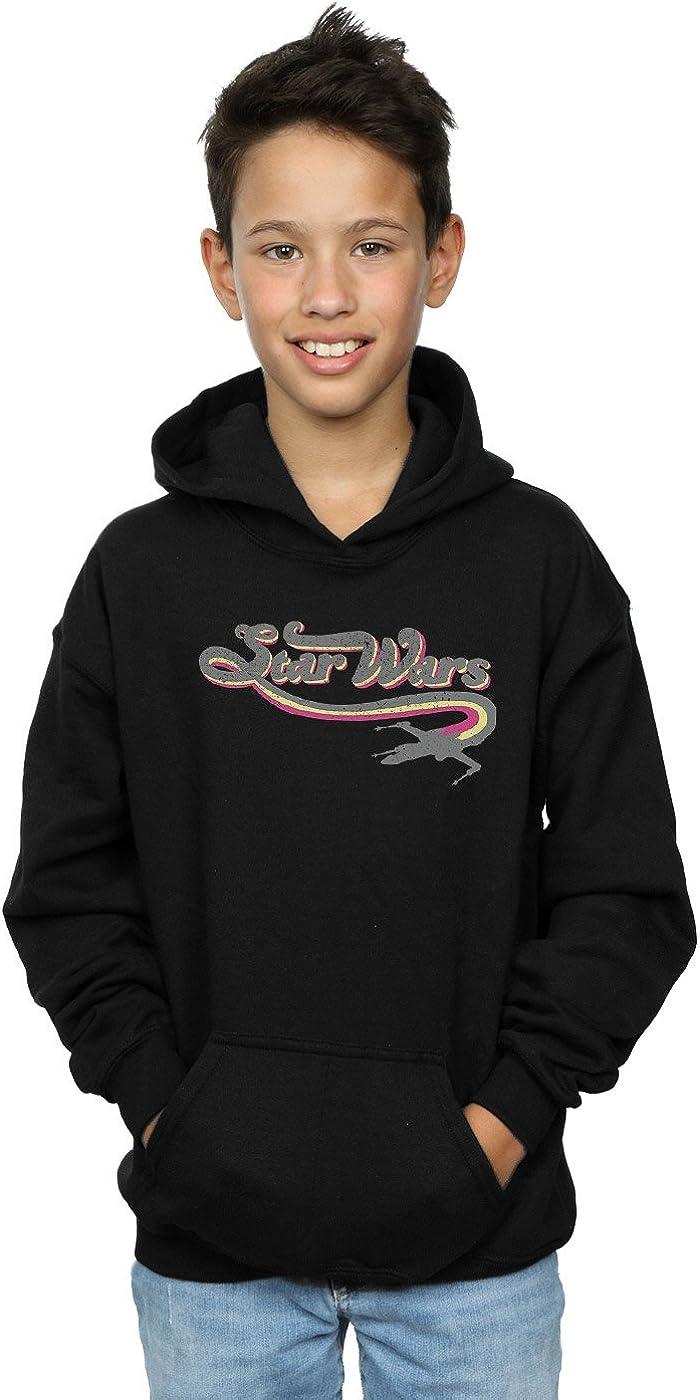 Star Wars Boys 60's Logo Hoodie 5-6 Years Black
