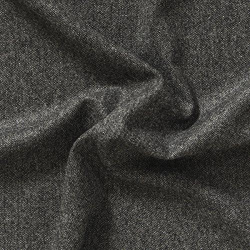 MIRABLAU DESIGN Stoffverkauf Schurwollstoff Jaquard schwarz weiß (17-052M) 0,5m