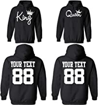 Custom Couple Hoodies, Customized Names and Numbers for him and her Personalized Matching Couples Hoodie