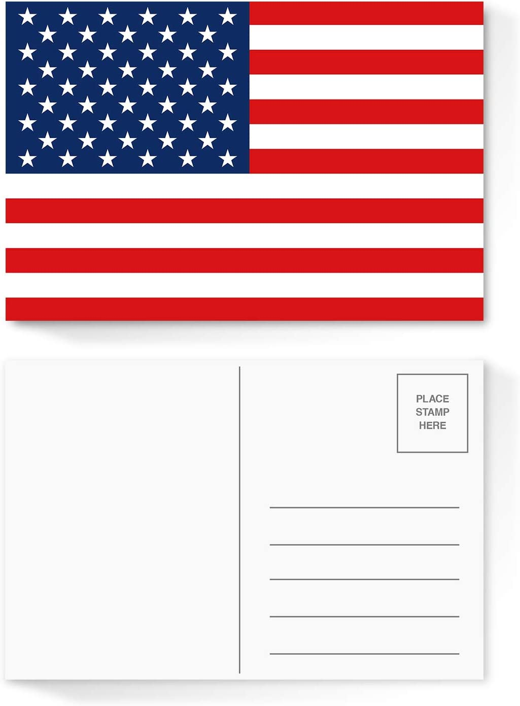 """4 Topics on TV Year-end gift x 6"""" Blank USA Post Postcards Flag American Card July"""