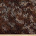 Newcastle Fabrics 0547989 Polar Fleece Serval Amber Fabric by the Yard