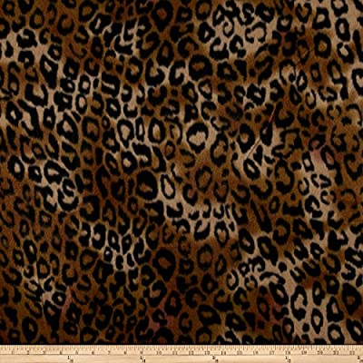Newcastle Fabrics 0547989 Polar Fleece Serval Amber Fabric by the Yard