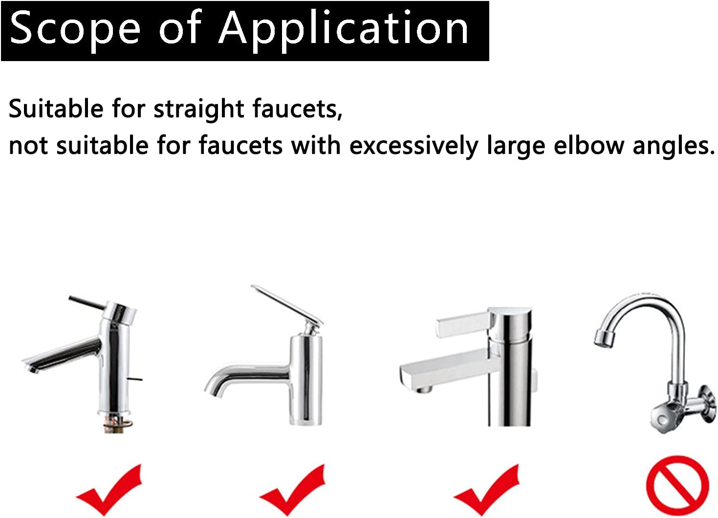 2 Pcs Silicone Faucet Extender, Sink Handle Extender - Child Helper Faucets Handle Hose Adapter, Kids Water Reach Faucet Rubber Hand Washing Bathroom Accessory Kitchen Gift Household Tool