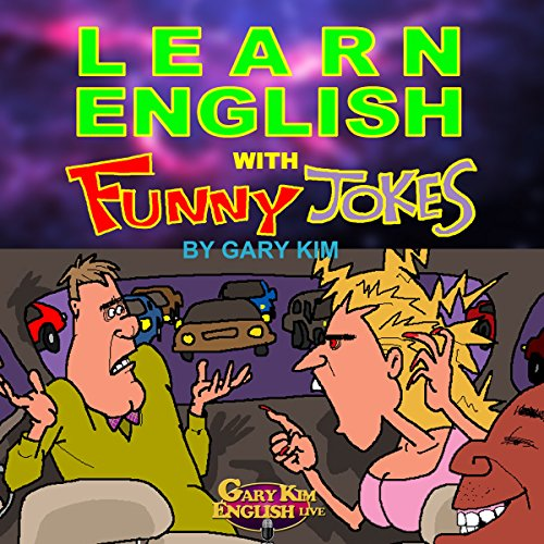 Learn English with Funny Jokes audiobook cover art