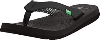 Sanuk Women's Yoga Mat Sandals (38 M EU / 7 B(M) US, Ebony)