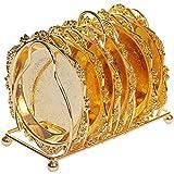 Zhengowen Portavasos 6pc Classical Golden Metal Coaster Continental Vintage Zinc Alloy Chapado en Chapado en Oro Posavasos para el Hogar (Color : Gold, Size : One Size)