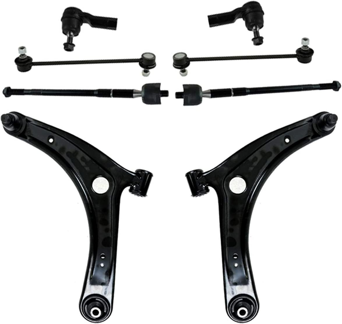 Regular dealer RUILIJIA Raleigh Mall Both 8pc Front Lower Control Compatible with Kit Arm