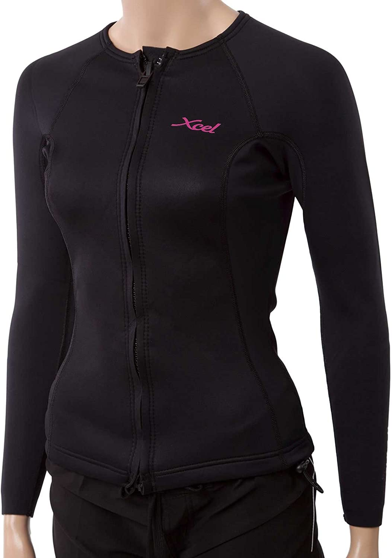 XCEL Los Angeles Mall Cheap mail order shopping Women's Longsleeve Front-Zip Jacket Aqua Fitness Wetsuit