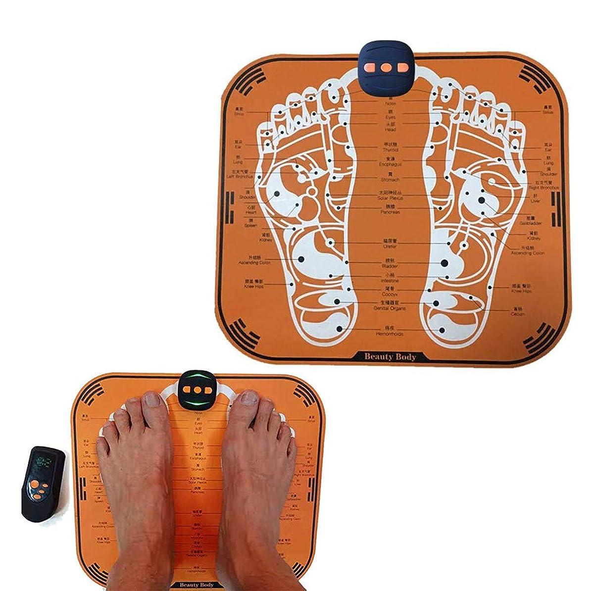 アルバム提案する症状フットマッサージ器、血液の循環を促進する携帯用電気マッサージマット、電子指圧筋肉Stimulatior足のマッサージを折りたたみ