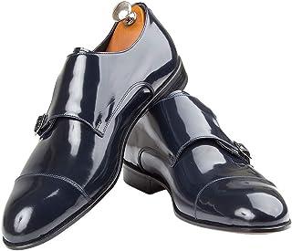 Handmade Italian Men's Shoes Monk Blake Rapid - Bespoke - Jesi