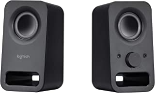Logitech Z150 Compact Multimedia Stereo Speakers, 3.5mm Audio Input, Integrated Controls, Headphone Jack, Computer/Smartph...