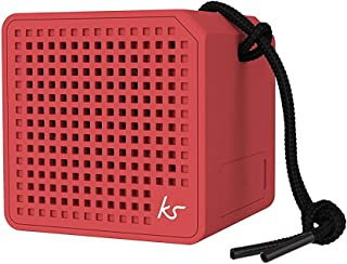 KitSound Boxi Mini Splash-Proof Portable Bluetooth Speaker, Red
