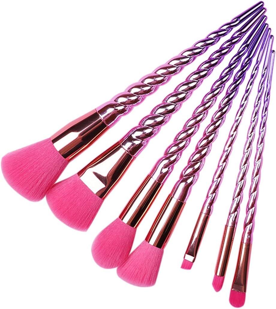 Make Up Brushes 7pcs Set Makeup Metal Bombing new work Brush Br Save money Spiral