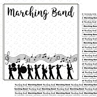 Marching Band Notes Music (38774) 12 inch x 12 inch Double-Sided Scrapbook Paper - 1 Sheet