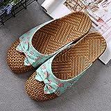 JUSTMAE Zapatos de Verano para Mujer, Zapatillas de Tejido de Lino, Mulas...