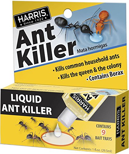 HARRIS Borax Liquid Ant Killer, 1oz - Includes 9 Bait Stations...