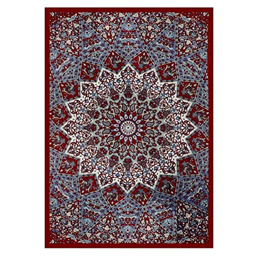 Armfer-household supply Beach Blanket Mandala Square Hippie Indian Peacock Psychedelic Tapestry Wall Hanging Bohemian Bedspread Bedding Bed Cover Throw Beach Towel Picnic Sheet