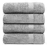 INDIVIDUAL SET INCLUDES: Set includes 550 GSM 4 piece bath sheets set. 100% Cotton. The Bath sheets measures ( 35 Inch X 66 Inch ). DURABLE & LONG-LASTING QUALITY: The towel has a double stitch hem and is made of physically enhanced cotton fibre for ...