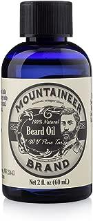 Beard Oil by Mountaineer Brand (2oz) | WV Pine Tar | Premium 100% Natural Beard Conditioner