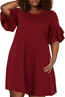 plus size knit dresses with sleeves