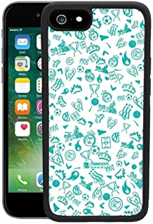 Cell Phone Case Fits for Apple iPhone 6S or iPhone 6 [4.7-Inch] Background Pattern Real Madrid Sport Wallpaper Whatsapp