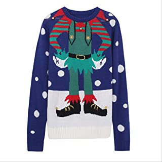 AHJSN Jumper Snowman Deer Sweaters New Santa Claus Xmas Patterned Ugly Christmas Sweaters Tops 4XL Christmas 03