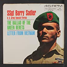 SSGT Barry Sadler 45 RPM Letter From Vietnam / The Ballad Of The Green Berets