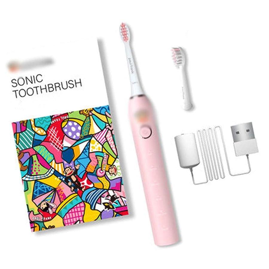 アデレードマサッチョ添付タイマー付き大人用充電式防水電動歯ブラシ歯医者さんのUSB充電歯ホワイトニングのようなあなたの歯,A