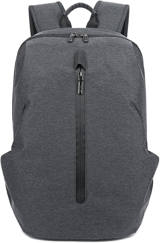 CJH Rucksack Herrenmode Trend Jugend Rucksack Tasche Male College Sport und Freizeit Computer Reisetasche Dark schwarz