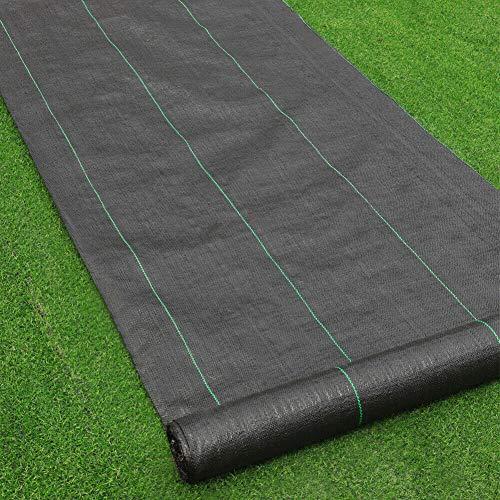 Cliselda Toile Anti-Mauvaises Herbes 3 m x 15 m,Bâche tissée, Toile 100g/m² paillage, Résiste Rayons UV, Tissu Perméable Résistant à la Déchirure
