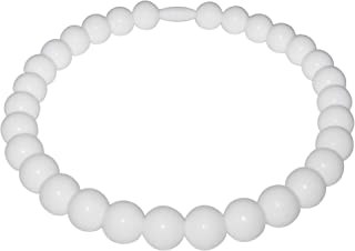 Pearl Baby Teething Necklace-Made With 100% Food Grade Silicone Teething Beads. Chewable Jewelry For Teething Babies & Children. (Silicone Pearl Necklace)