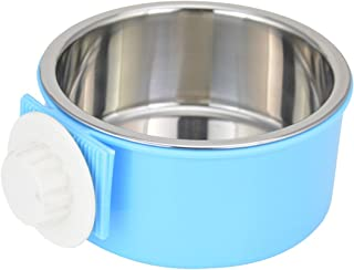 Guardians Crate Dog Bowl Removable Stainless Steel Water Food Feeder Bows Cage Coop Cup for Cat Puppy Bird Pets