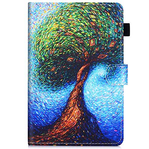 Felfy Kompatibel mit Amazon Kindle Paperwhite 2016 2015 2013 2012 Hülle Leder Flip Case Tasche Bunt Muster Tablet Klappständer mit Ständer Funktion Schutzhülle mit Automatischem Schlaf Funktion