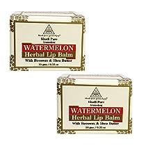Khadi Pure Herbal Watermelon Lip Balm, 10 ml (Pack of 2)