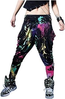 LOBZON Candy Colors Casual Doodle Harem Hip Hop Dance Pants (One Size)