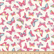 Robert Kaufman 0567761 Kaufman London Calling Lawn Spring Butterflies Fabric by The Yard
