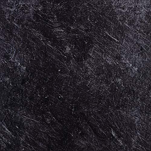 STILISTA® Vinyl Laminat in Steinoptik anthrazit, 36 Fliesen a 457,2mm x 457,2mm = 7,5251 m², rutschfest, wasserfest, schwer entflammbar, schimmelbeständig