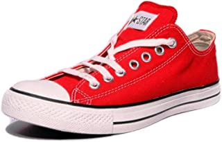 Converse Unisex 0104192D Red Canvas Casual Shoes - 11 UK