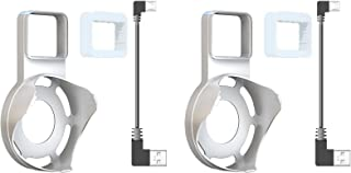 Echo Dot Holder Outlet Wall Mount Hanger Stand for Alexa Echo Dot 2nd Generation Short USB Cable Space-Saving Solution for Your Smart Home Speakers Without Messy Wires or Screws, White, 2-Pack