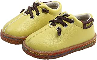 Hopscotch Baby Boys PU Lace Up Boat Shoes in Green Color