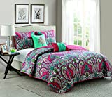 VCNY Home Casa Real Collection Quilt Set - Ultra-Soft Reversible Coverlet Bedding - Lightweight, Cool, and Breathable Bedspread, Machine Washable, King, Coral