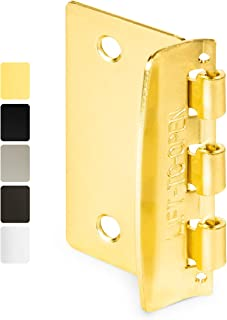 Jack N' Drill Flip Action Door Lock (6 Pack)- Reversible Privacy Door Locks with Anti Lockout Screw for Child Proofing and...