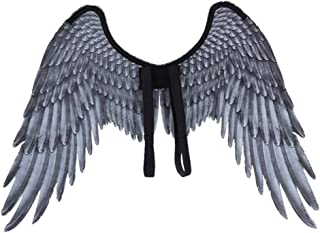 Angel Wings, Halloween Party Props for Kids, Angel Fairy Wings Costume Fancy Dress, Devil and Angel(White, Black)