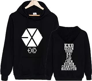 Kpop EXO Hoodie Sweatshirt Sehun Suho Xiumin Kai Chanyeol Sweater Jacket