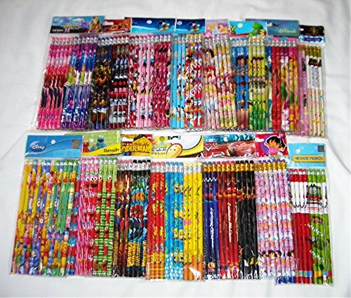Disney 120 pcs Cartoon Character Licensed Wooden Pencil School Party Bag Fillers