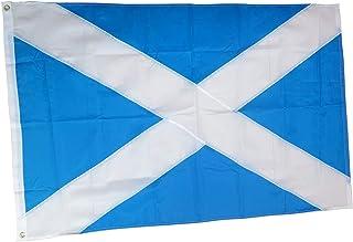 rhungift Premium Heavy Duty Scotland Flag 3x5 Ft, Oxford Nylon 210D Scottish Flag   Quadruple Stitched Fly Ends  Brass Grommets for Easy Display British Union Jack st Andrews Flag