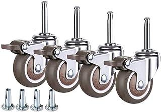 Zwenkwielen Meubelwielen Bewegende zwenkwielen Meubelwielen (4 stuks) 1,5 inch / 2 inch zwenkwielen Draagvermogen 80-100 k...