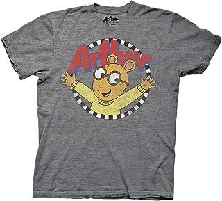 Arthur Adult Distressed Arthur with Logo Light Weight Crew T-Shirt